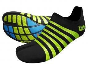 ZEMgear O2 Oxygen Ninja Split Toe - All Sport Series (M9 - W10, Black - Lime Metallic)