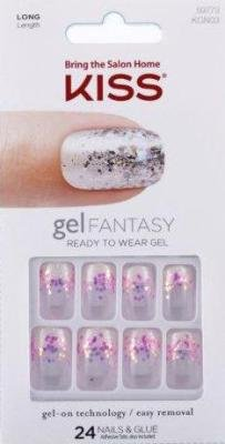Amazon.com : Kiss Gel Fantasy Nail Kit - Painted Veil (Pack of 2 ...