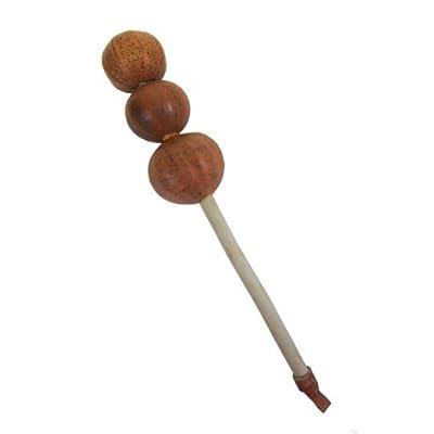 Three Pod Rattle - African Seed Pod Shaker - Triple Egg Shaker: Toys & Games