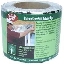 Protecto Wrap Super Stick Building Tape 4″ x 75′ Roll