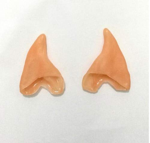 Mask Party - 1 Pair Mysterious Angel Elf Ears Fairy Cosplay Halloween Party Latex Soft Pointed Prosthetic False - Pack Bulk Kids Glasses Couples Adults Masks Party Male Headbands Masquerade -