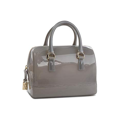 Furla Candy Ladies Small Gray Onice PVC Crossbody 978653
