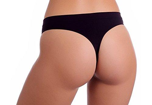 gatta String Lili–Underwear Seamless String Tanga ventaja–�?Pack negro