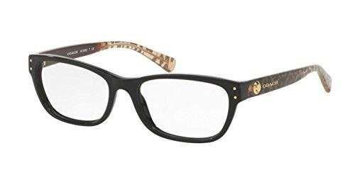 Amazon.com: Coach Women\'s HC6082F Eyeglasses Black/Wild Beast 53mm ...