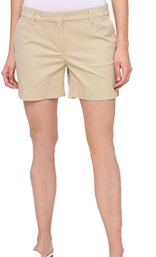 Tommy Hilfiger Womens Flat Front Shorts, Tan, Size 4
