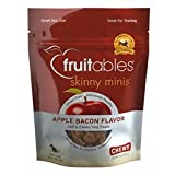 Fruitables Skinny Minis Soft and Chewy Dog Treats Apple Bacon – 5 Oz, 12 pack, My Pet Supplies