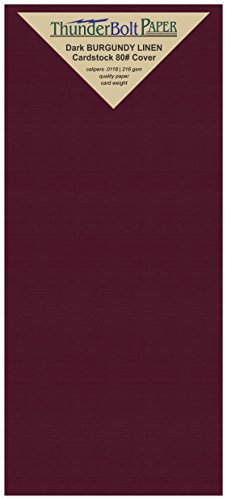 75 Dark Burgundy Linen 80# Cover Paper Sheets - 4
