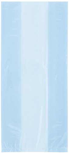 Baby Blue Cellophane Bags, -