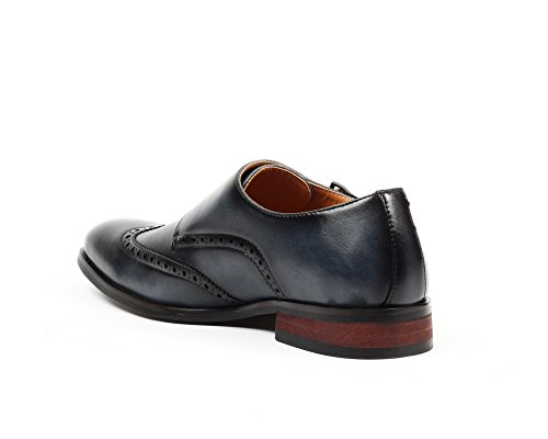 Santino Luciano Nico Men's Wingtip Monk Strap Dress Shoes