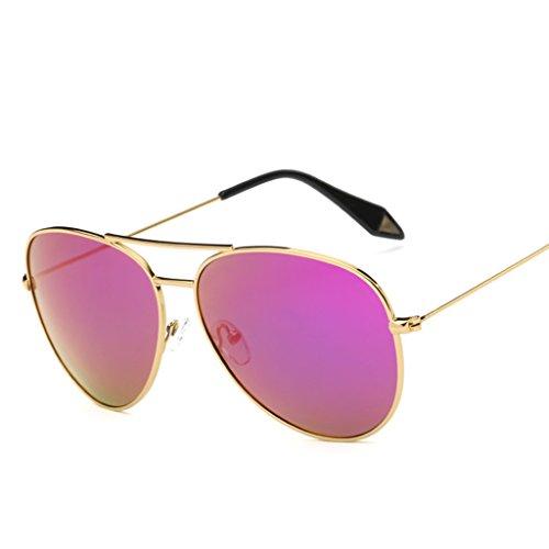 de Gafas protecciónn personalidad Espejo Película de 7 Gafas amp; Gafas sol Lente 1 X9 de Marco Vintage Color polarizada Gran amp;Gafas tqwtX