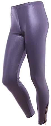 Simplicity Womens Leggings Pants Workout Fitness Gym, Charcoal w/Chian