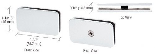 CRL White Junior Traditional Style Fixed 180 Degree Glass Clamp for 1/4
