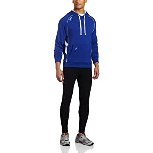 ASICS Men's Team Hoody,Royal/White,XX-Small