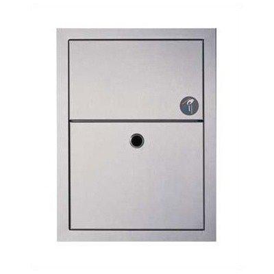 Recessed Sanitary Napkin Disposal (Recessed or Surface Mounted Sanitary Napkin Disposal Mounting Type: Recessed, Closure: With Lock)