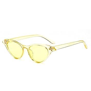 KLXEB Sonnenbrille Frauen Sonnenbrille Retro Klein Rot Gelb Sonnenbrillen Damen, Leopard