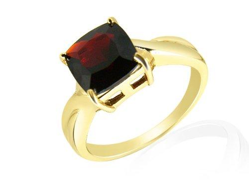 Pranda - 135R0370-08/9AMN - Bague Femme - Or Jaune 9 carats 2.848 grams - Avec 1 Grenat