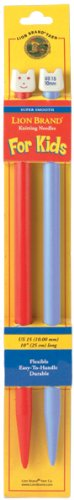 - Lion Brand Yarn 400-5-1102 Kids Knitting Needles, Size 15, 10mm