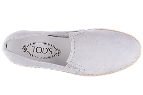 Tod's slip on femme en daim sneakers Rafia tv gris