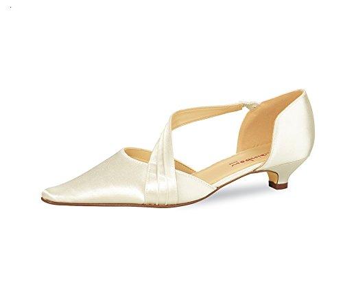 Elsa ColouROT Schuhes Brautschuhe Selina Rainbow, Modell Selina Brautschuhe Satin mit Riemchen vorne 3,5 cm Absatz Elfenbein 8479b3