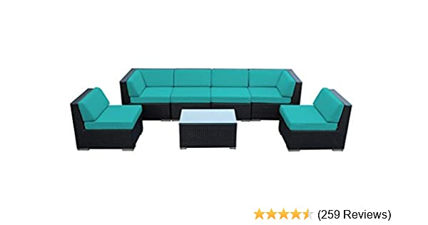 Ohana Patio Furniture Reviews.Amazon Com Ohana 7 Piece Outdoor Patio Furniture Sectional