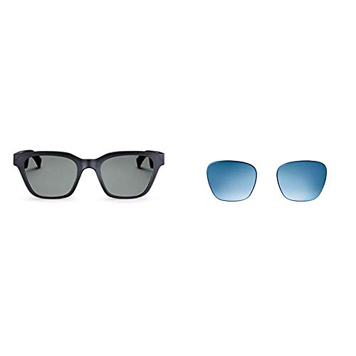 (Bose Frames Audio Sunglasses, Alto, Black - with Bluetooth Connectivity w/ Blue Gradient Alto Style, interchangeable replacement lenses)
