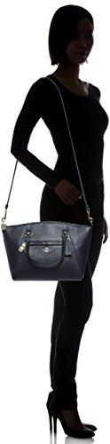 8 cm Femme Or main et 5x20x26 Bleu à 58874LINAV Cuir Bleu Sac Coach UqHwgvvx7