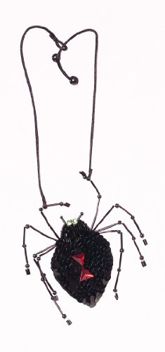 [Creepy SPIDER Jeweled Necklace Halloween Accessory NEW IN BOX] (New Black Widow Costumes)