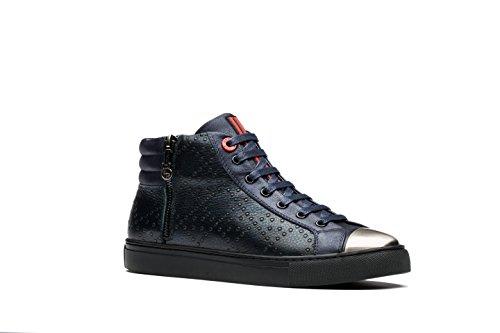 OPP Chaussures High-top Pour Homme Neuf Bleu et Noir Bleu WDN5EYC5hN