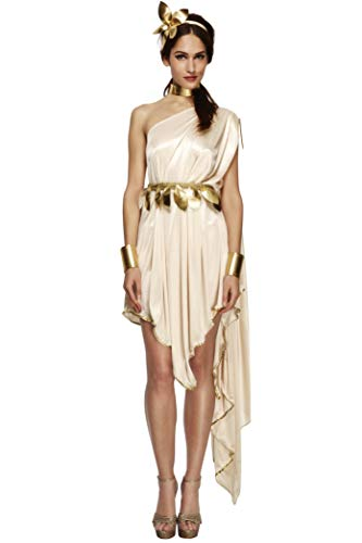 Smiffys Women's Fever Goddess Costume, Dress, Belt, Arm cuffs, Choker and Headpiece, Legends, Fever, Size 10-12, 20561