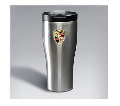 (Genuine Porsche Crest Double Wall Stainless Thermal Tumbler)