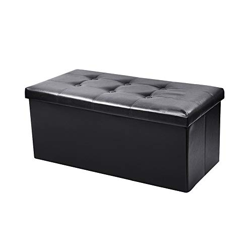 Super Bally Pu Leather Folding Storage Ottoman Bench Foot Rest Stool for Home Office Clothes Toy Storage Shoes Bench Waterproof Book Organizer Storages