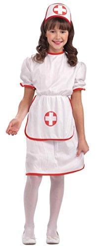 Holloween Costumes Kids (Forum Novelties Classic White Nurse Costume, Child Large)