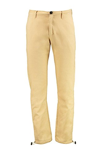 Boohoo Mens Skinny Fit Drawstring Bottoms in Stone size L