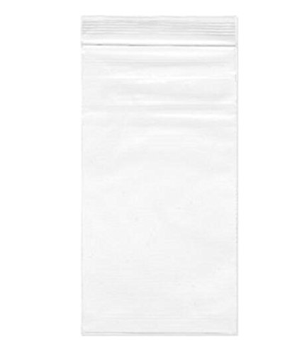 100pcs 3 x 7 Inch (8X18cm) Clear 2.4 Mil Resealable Zipper Shipping Bags Poly Bag Flat Self Adhesive Sealing Cello Zip Lock Treat Packing Bags