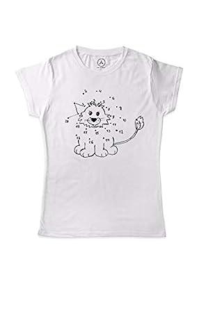 Art T Shirt Aslan Boyama Kitabi Tişört Amazoncomtr Art