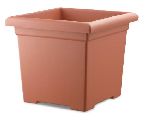 Akro Mils ROS15500E35 Accent Square Planter, Clay Color, 15-1/2-Inch Akro Mils Square Planters