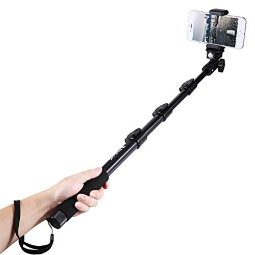 Sodoop Selfie Stick for DJI Osmo Action Accessories, Travel Extendable Adjustable Pole Handheld Selfie Stick Monopod for GoPro HERO5 HERO4 Session Hero 5 4 3+ 3 2, Black