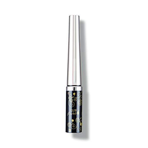 100% PURE Long Last Liquid Eye Liner, Black Tea, Long Lasting, Water Resistant, Smudge Proof, For Flawless Winged Eye Liner, Vegan Makeup - Black Eyeliner (0.23 Fl Oz)