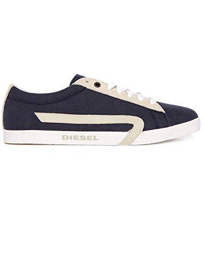 - Diesel Men's Casual Shoes Bikkren Lace up Sport Fashion Sneakers (9 US/42 EUR/27 cm, Indigo/Silver Blue)