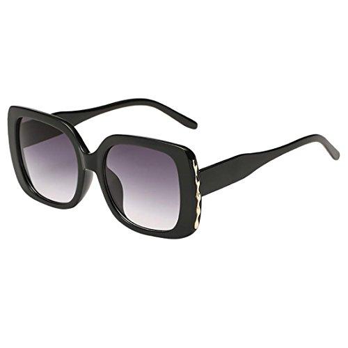 Sannysis Unisexo Retro Vendimia Marco Grande Gafas de Sol de Forma Cuadrada Gafas Polarizado Gafas De Sol Redondas por Sannysis Home