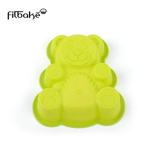 1 piece Filbake Cute Bear Cake Mold DIY Silicone Mould Creative Baking Tools High Temperature Baking Accessories Pan Cake Cup Tools ()