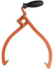 """Logging Skidding Tongs 10"""" Non-Slip Grip- Log Lifting, Handling, Dragging & Carrying Tool"""