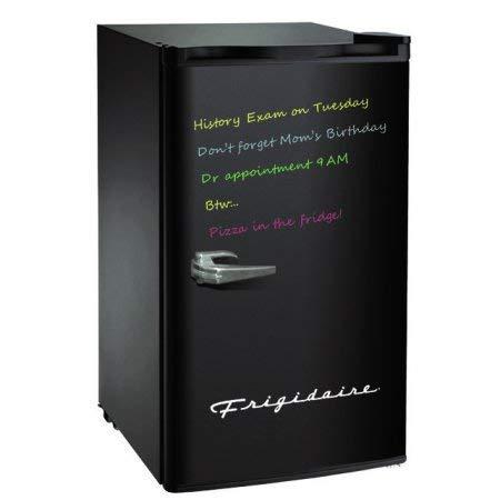 - Frigidaire - EFR331-BLACK-COM, Retro 3.2 Cu. Ft. Eraser Board Reversible Compact Refrigerator, Black -