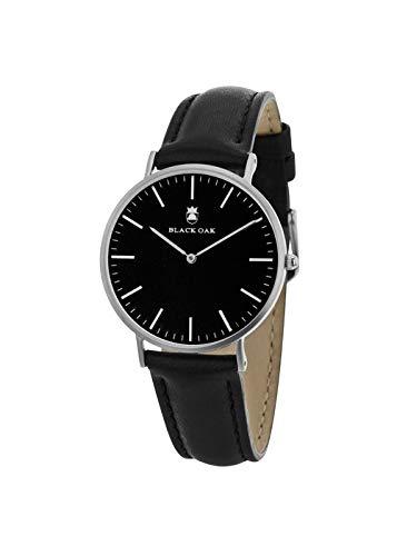 Reloj Black Oak Hombre Digital Negro de Piel | Reloj Negro | bx57904 - 227: Amazon.es: Relojes