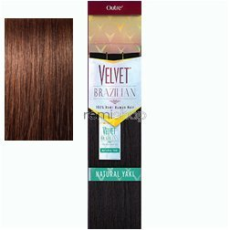 - Outre Remy Human Hair Weave Velvet Brazilian Natural Yaki (10