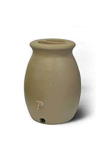 Algreen 81213  Products Castilla Rain Barrel 50-Gallon, Sandalwood