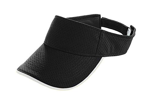 Augusta Sportswear Kids' Athletic MESH Two-Color Visor OS Black/White ()
