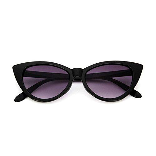 Marco ECYC® Grueso Gafas Polarizadas brillante doble A02 Gafas De Para Mujer Sol Catado Sol y Estilo De negro gris Retro YqftAnS