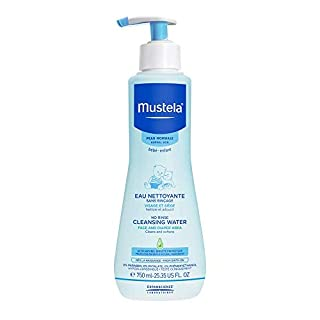 Mustela No Rinse Baby Cleanser - Micellar Water - with Avocado & Aloe Vera - For Baby's Face, Body & Diaper - 25.35 fl. oz.