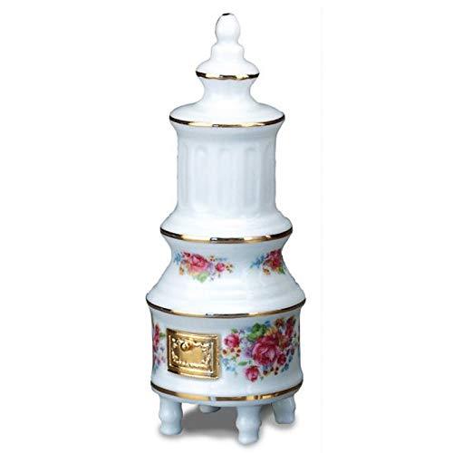 Dollhouse Miniature 1:12 Scale Dresden Rose Porcelain Stove by Reutter Porcelain